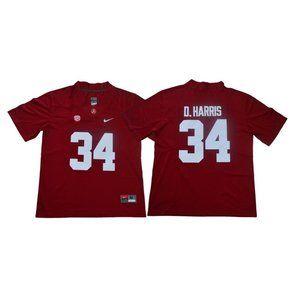 Alabama Crimson Tide Damien Harris Red Jersey